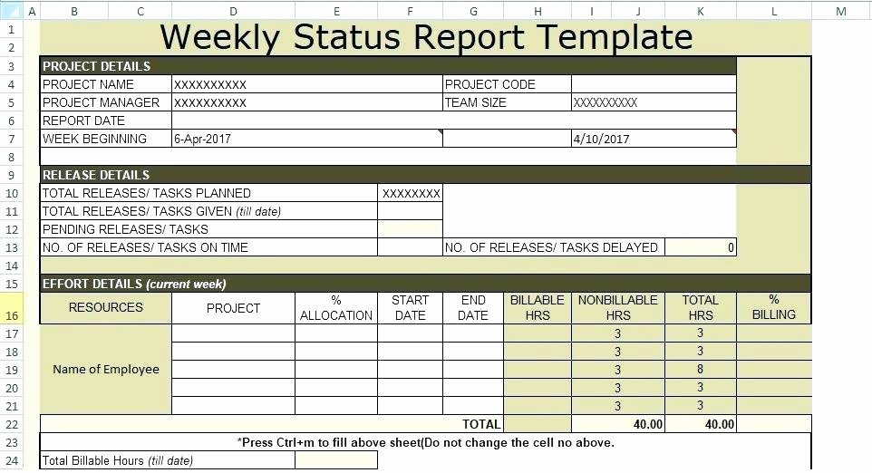 Weekly Status Report Template Excel Best Of Project Status Report Template Excel E Page A Weekly