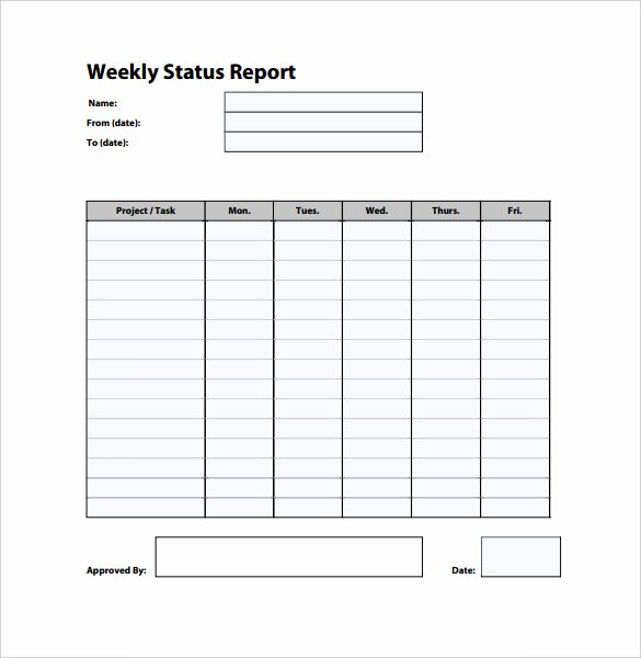 Weekly Status Report Template Excel Best Of Weekly Status Report Templates 27 Free Word Documents