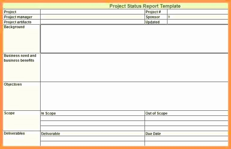Weekly Status Report Template Excel Lovely Weekly Report format Excel Daily Status Report format