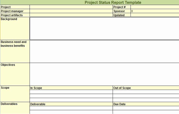 Weekly Status Report Template Excel Luxury Weekly Project Status Report Template In Excel