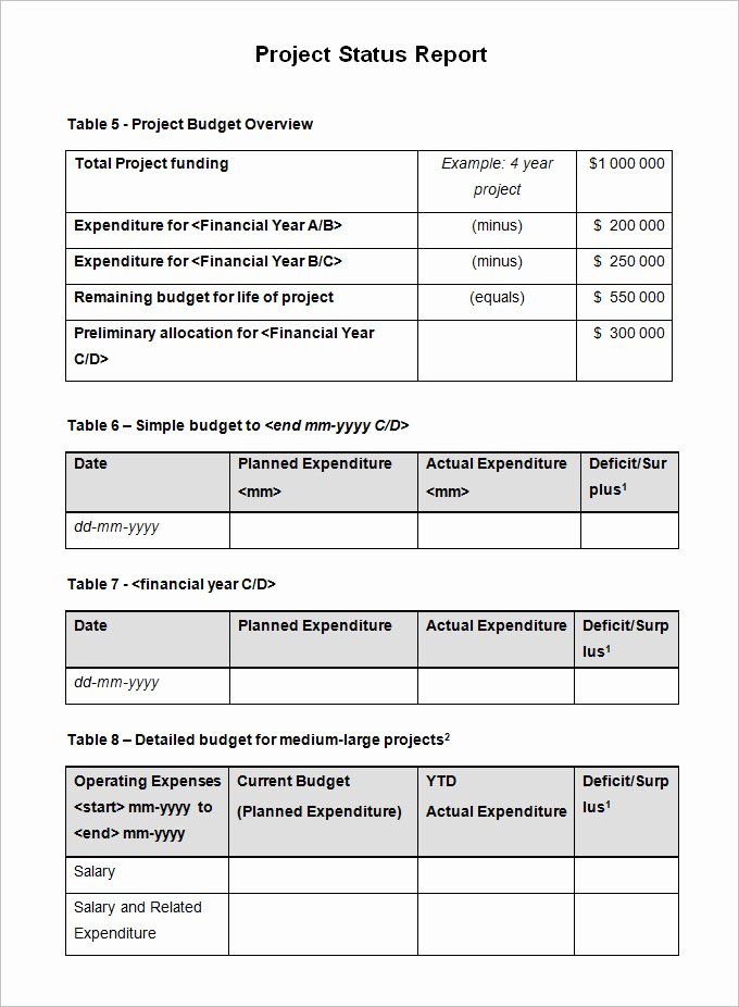 Weekly Status Report Template Word Awesome Sample Project Status Report Template 10 Free Word Pdf