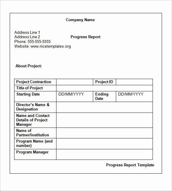 Weekly Status Report Template Word Inspirational Weekly Status Report Templates 27 Free Word Documents