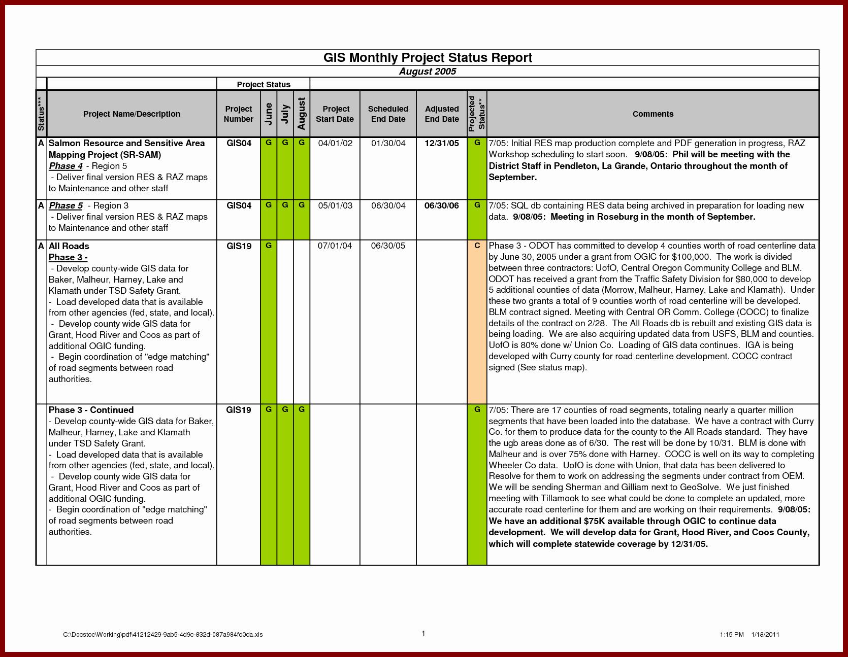 Weekly Status Report Template Word Luxury Monthly Status Report Template Word