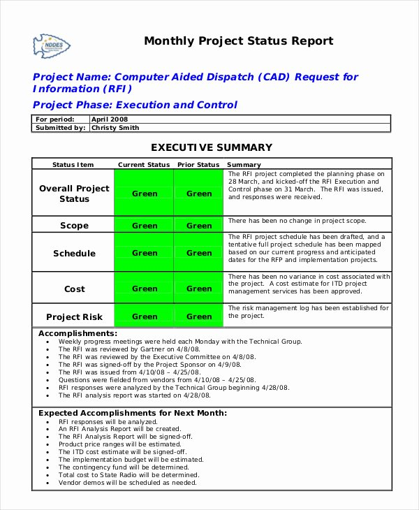 Weekly Status Report Template Word Unique Status Report Template 18 Free Word Pdf Documents