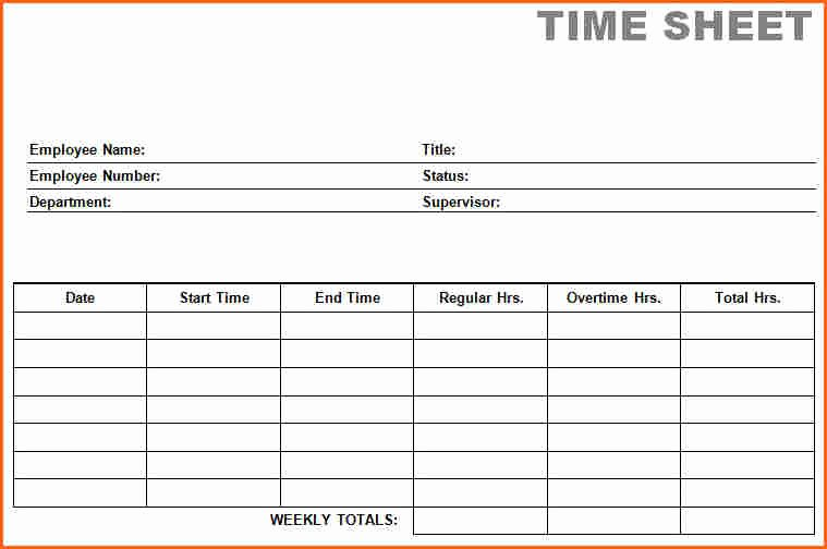 Weekly Time Card Template Awesome 7 Weekly Time Card Template Free Bud Template Letter