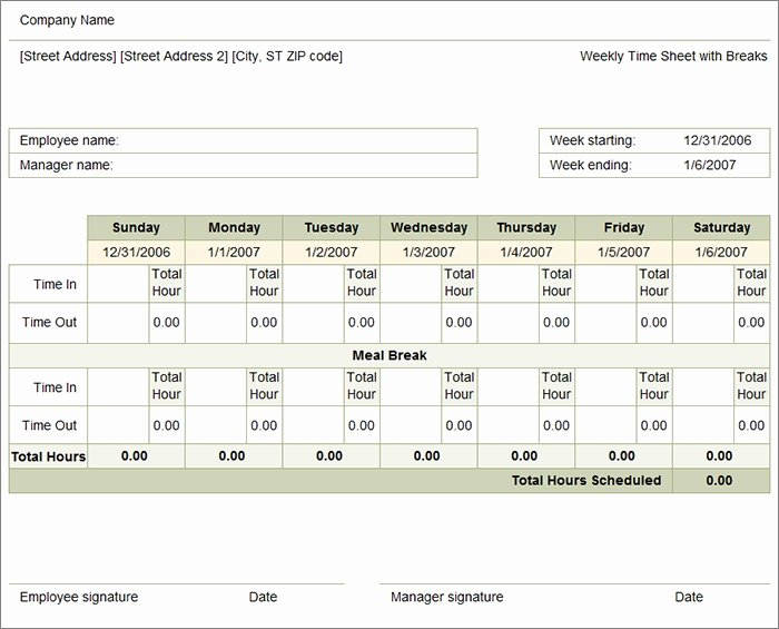 Weekly Time Card Template Best Of 60 Sample Timesheet Templates Pdf Doc Excel