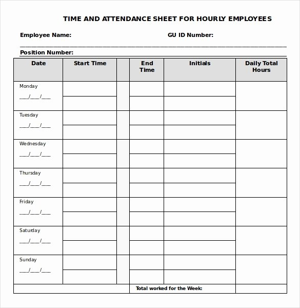 Weekly Time Card Template Lovely 21 Daily Timesheet Templates Free Sample Example