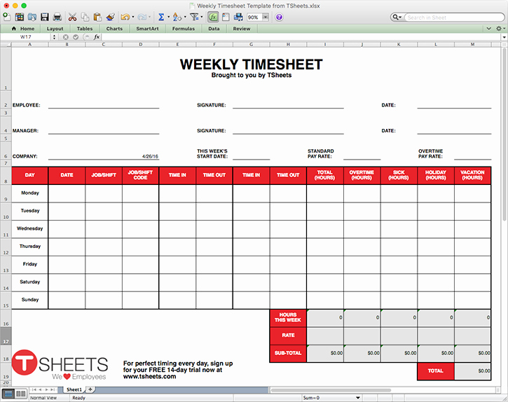 Weekly Time Card Template Unique Timesheet Template Excel Timesheet Monthly Weekly