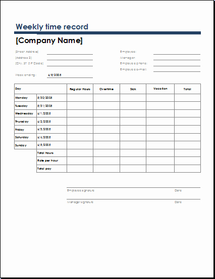 Weekly Time Sheet Template Best Of Ms Excel Ficial Time Sheet Templates