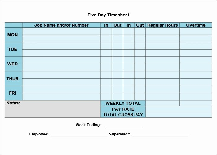 Weekly Time Sheet Template Fresh 60 Sample Timesheet Templates Pdf Doc Excel