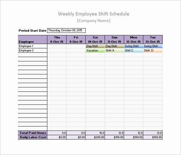 Weekly Work Schedule Template Free Luxury 17 Daily Work Schedule Templates & Samples Doc Pdf