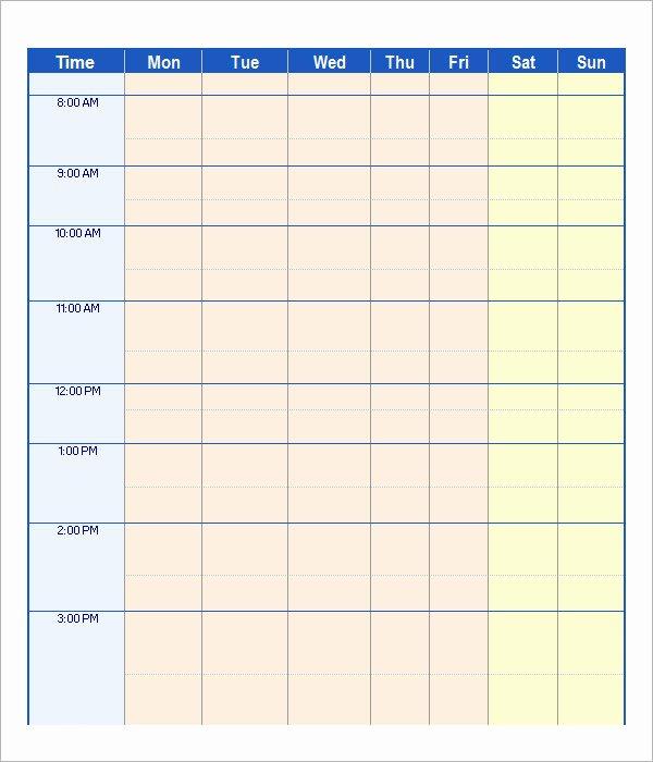 Weekly Work Schedule Template Pdf Elegant 21 Samples Of Work Schedule Templates to Download