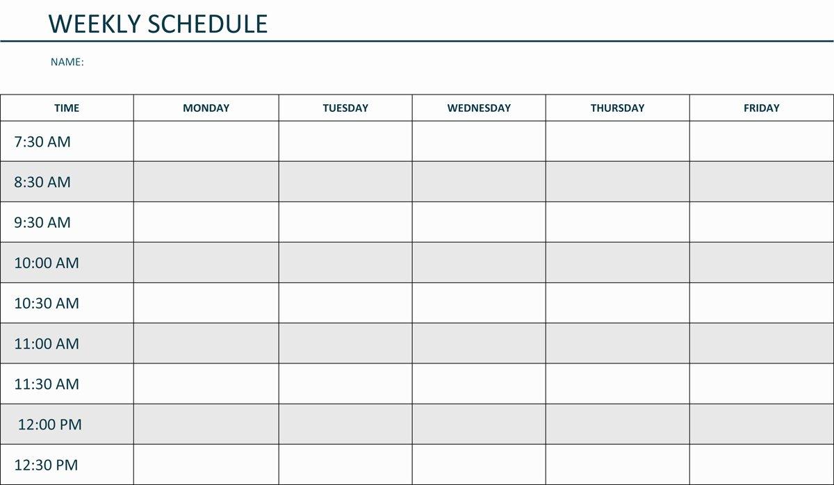 Weekly Work Schedule Template Pdf Elegant Editable Weekly Schedule Template In Word