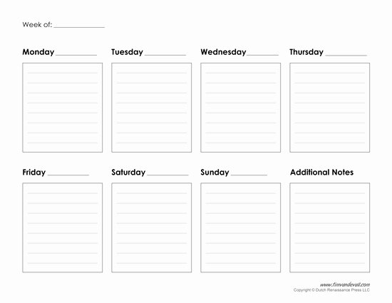 Weekly Work Schedule Template Pdf Inspirational Printable Weekly Calendar Template Free Blank Pdf