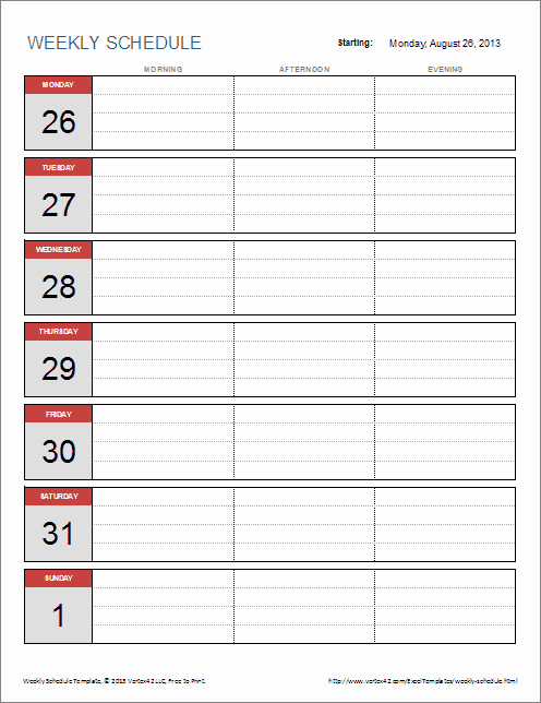 Weekly Work Schedule Template Pdf Lovely 6 Weekly Schedule Templates Word Excel Pdf Templates