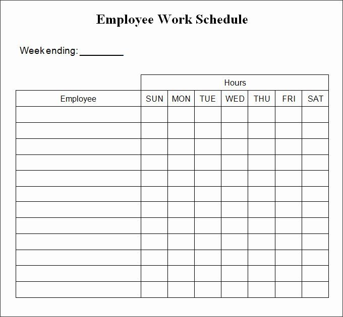 Weekly Work Schedule Template Pdf Luxury Printable Weekly Schedule Template & Excel Planner