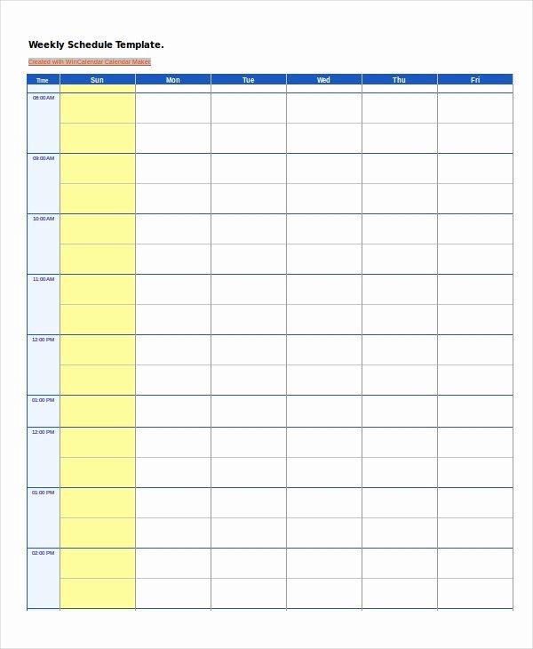 Weekly Work Schedule Template Pdf New Work Schedule 14 Free Pdf Word Excel Documents