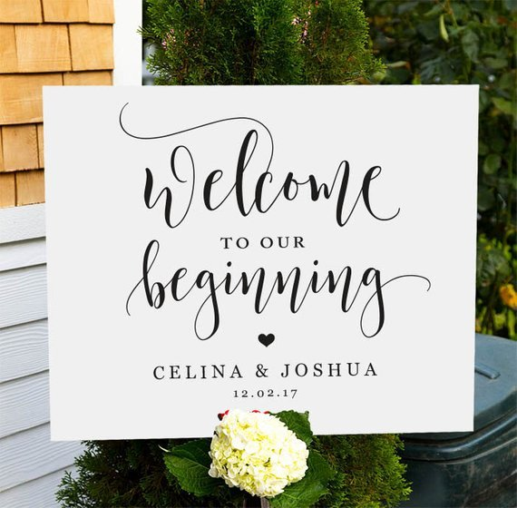 Welcome Sign Template Free Awesome Wel E to Our Wedding Sign Printable Wedding Wel E Sign