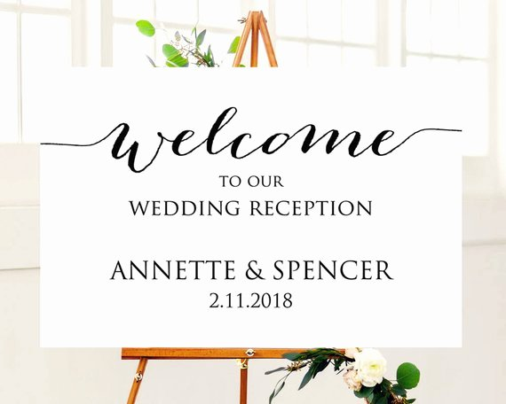 Welcome Sign Template Free Beautiful 24x36 Wedding Reception Wel E Sign Template