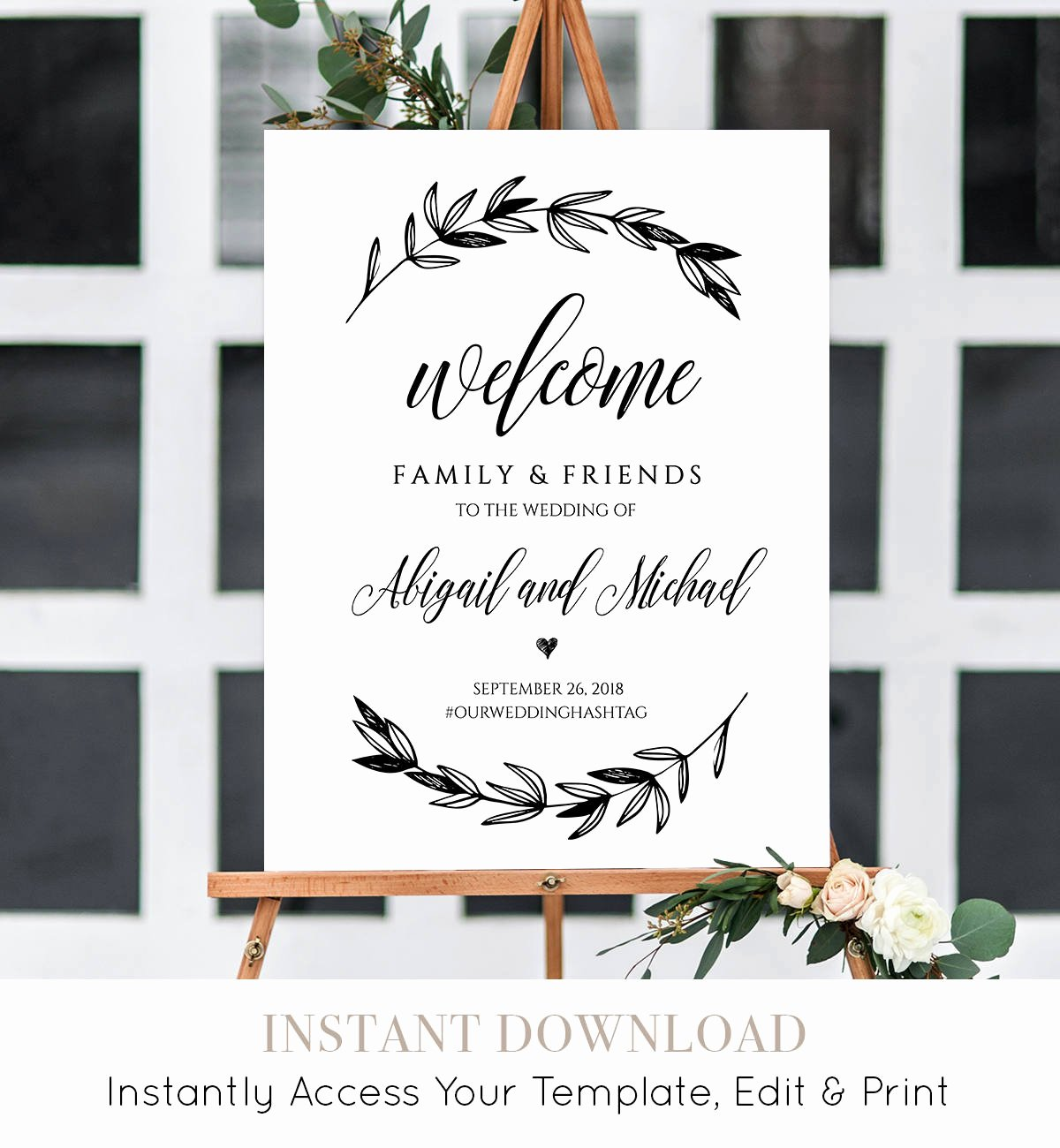 Welcome Sign Template Free Elegant Wedding Wel E Sign Template Printable Poster