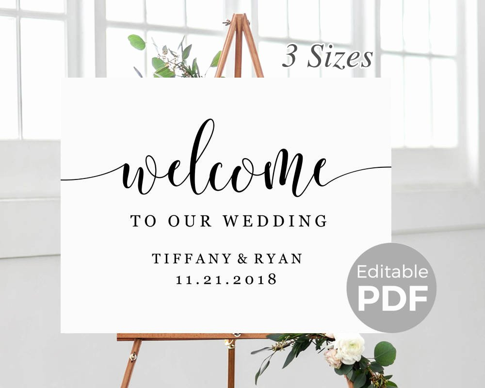 Welcome Sign Template Free Fresh Rustic Wel E Sign Template for Wedding Printable Modern