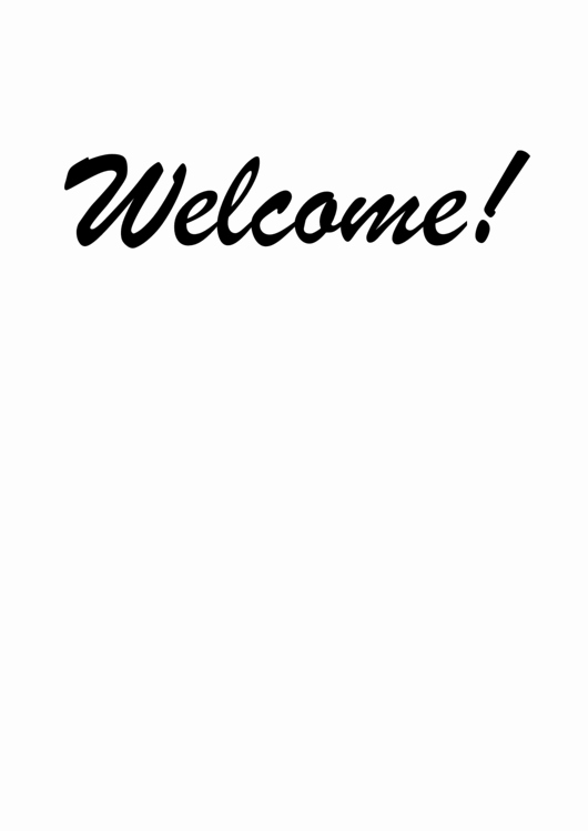 Welcome Sign Template Free Fresh top 15 Wel E Sign Templates Free to In Pdf format