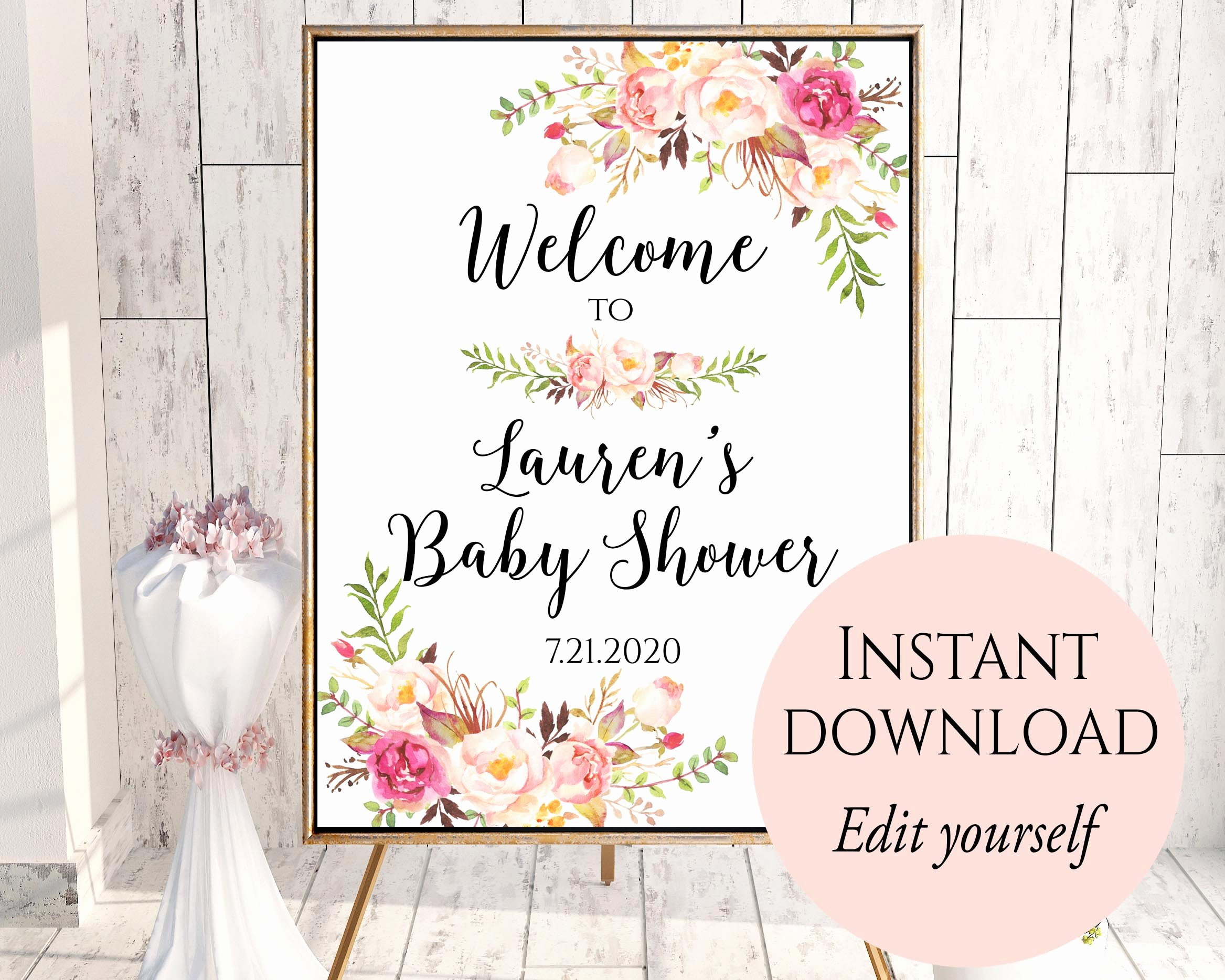 Welcome Sign Template Free Inspirational Wel E to Baby Shower Baby Shower Wel E Sign Template