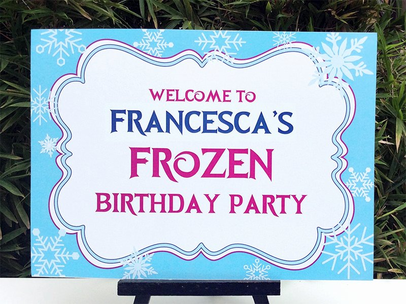 Welcome Sign Template Free Lovely Frozen Birthday Party Printable Templates