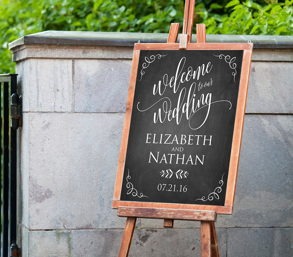Welcome Sign Template Free Lovely Printable Wedding Wel E Sign Template Rustic Chalkboard