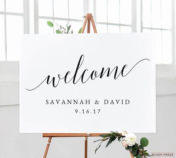 Welcome Sign Template Free Luxury Wedding Wel E Sign Template Printable Wel E Wedding Sign
