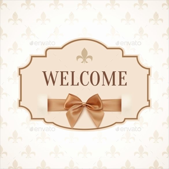 Welcome Sign Template Free New Wel E Banner Template – 20 Free Psd Ai Vector Eps