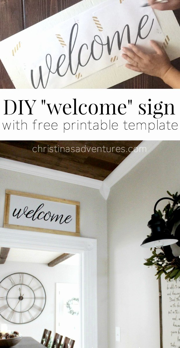 Welcome Sign Template Free Unique Diy Wel E Sign Christinas Adventures