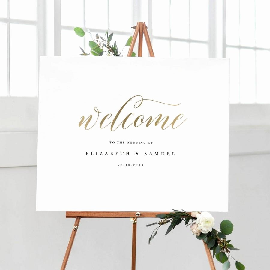 Welcome Sign Template Free Unique Wel E to Our Wedding Sign Template Printable Wel E