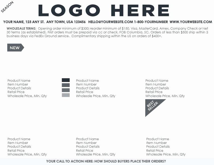 Wholesale order form Template Fresh Ing soon Professional Line Sheet order form Design