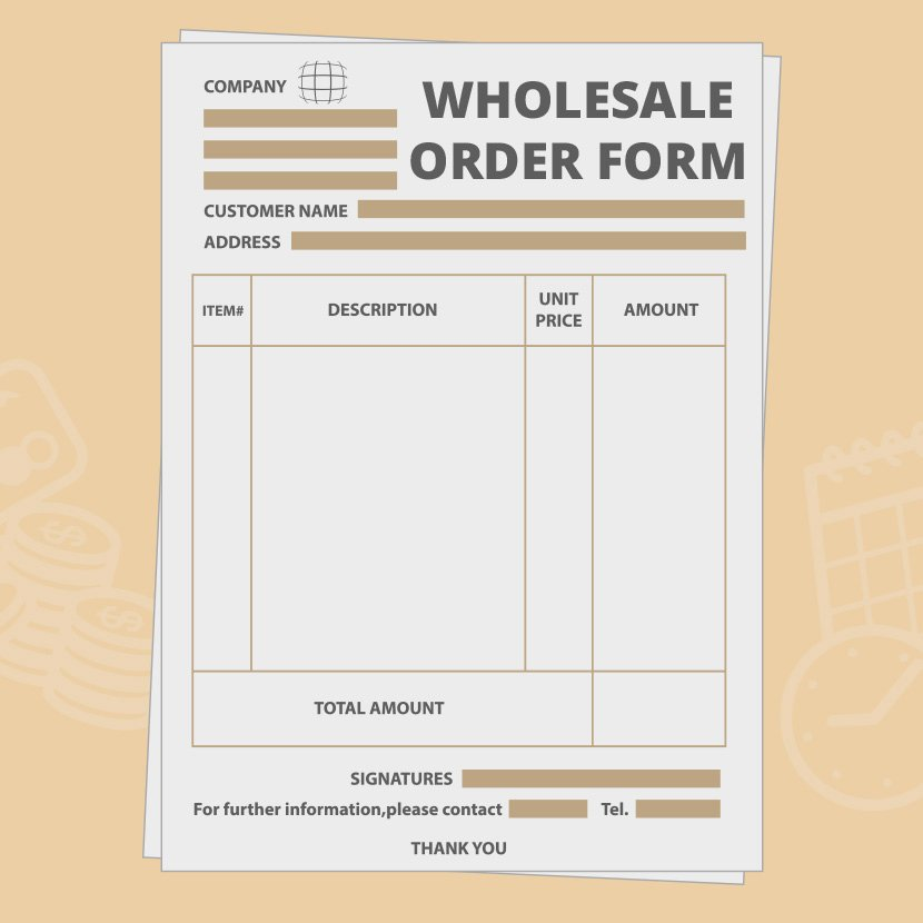 Wholesale order form Template Inspirational wholesale order form Template Create Your Own for Free