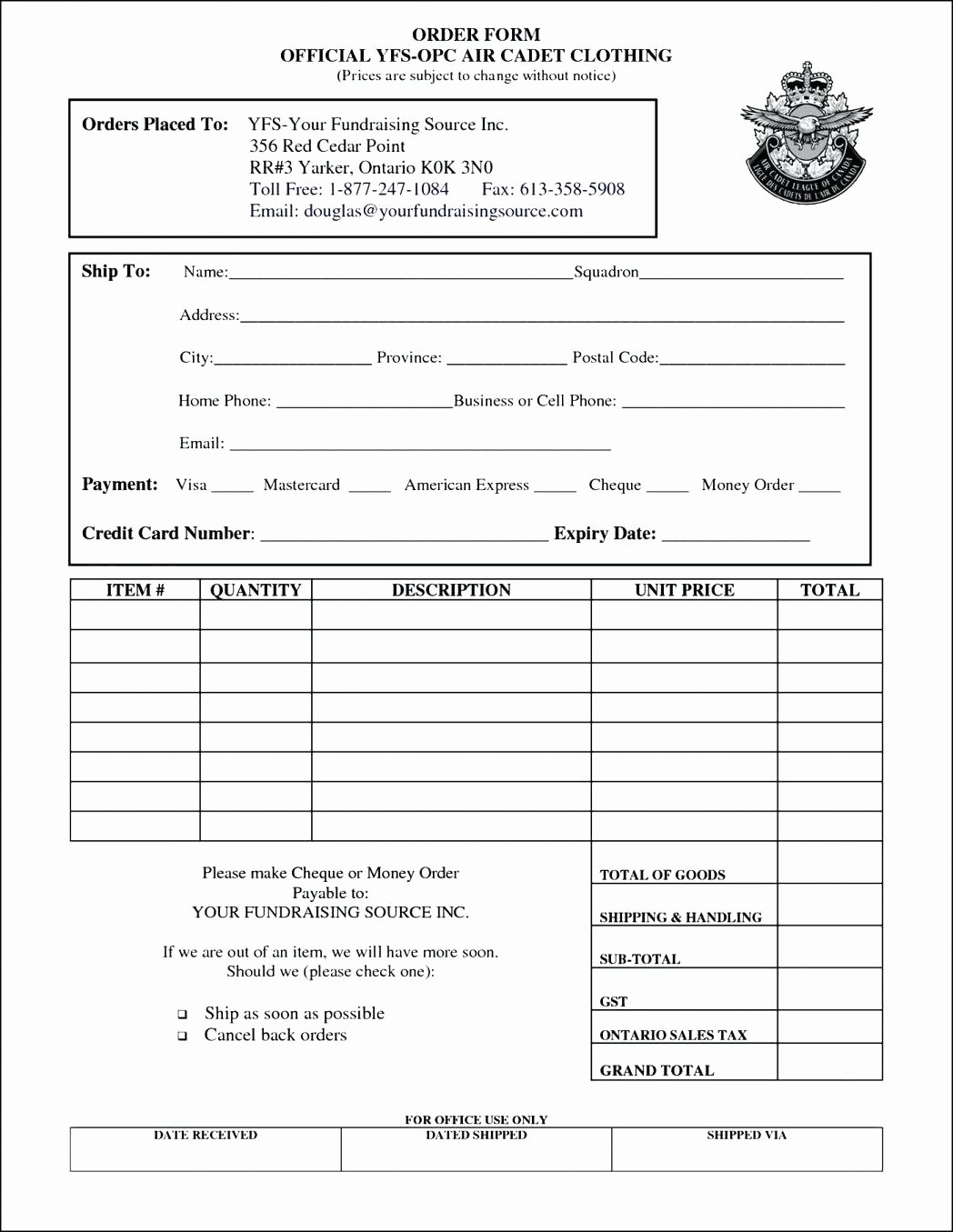 Wholesale order form Template New Template Apparel order form Template