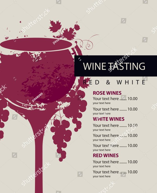 Wine Tasting Menu Template Awesome 19 Wine Menu Template Free Premium Psd Ai Illustrator