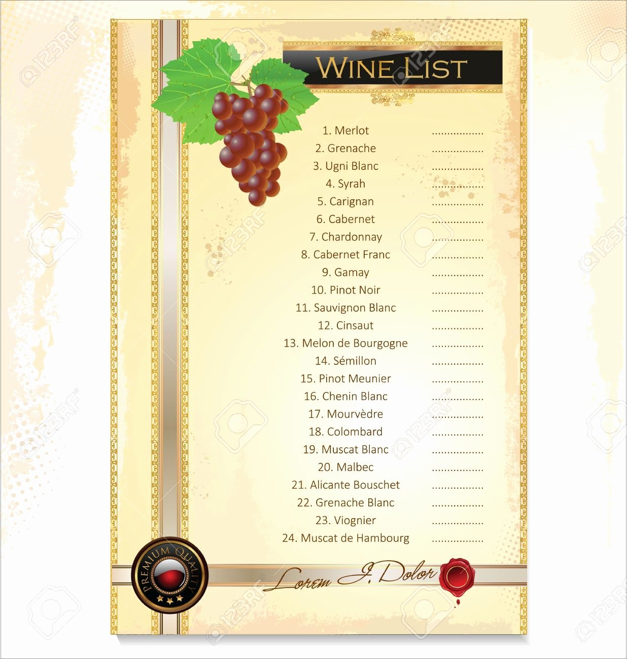 Wine Tasting Menu Template Beautiful Menu Wine Menu Template