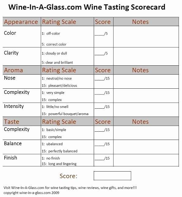 Wine Tasting Menu Template Best Of Wine Tasting Score Card Wine Pinterest