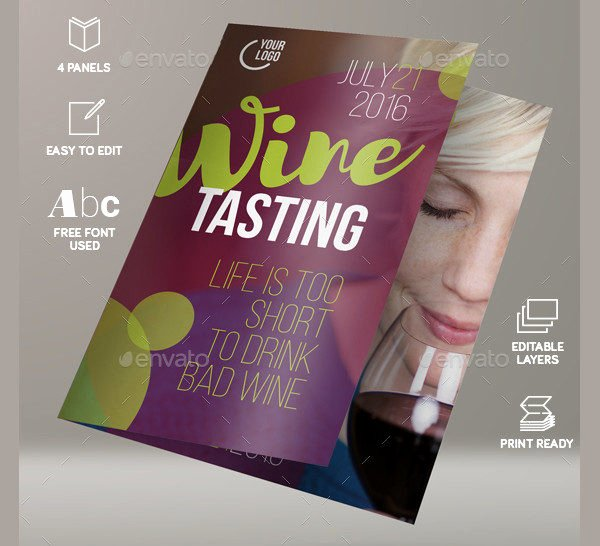 Wine Tasting Menu Template Elegant 25 Wine Brochure Templates Free Psd Ai Eps format