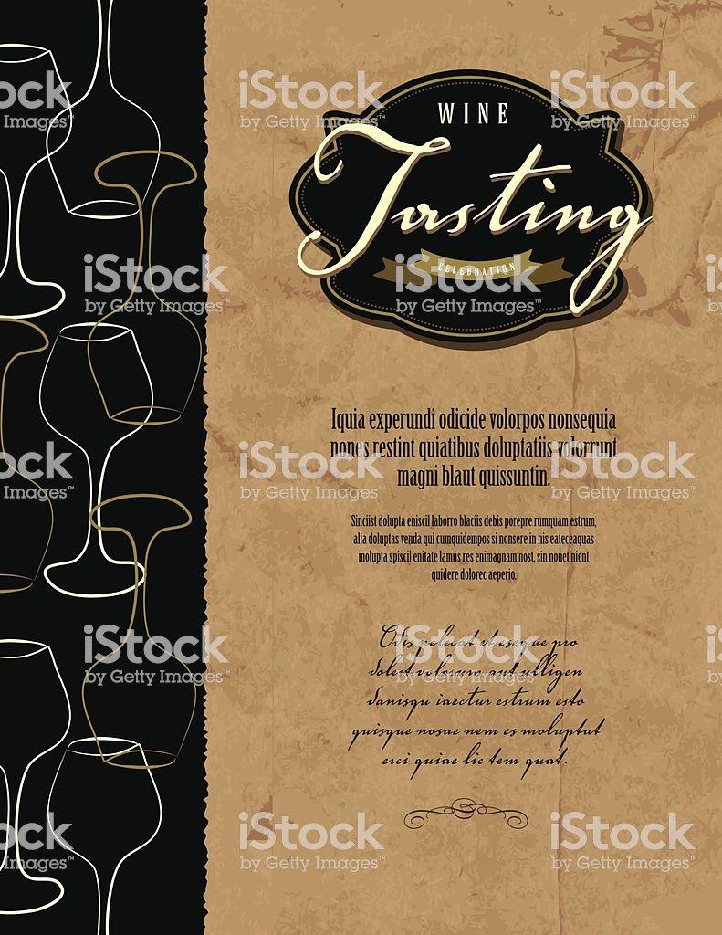 Wine Tasting Menu Template Elegant Wine Tasting Invitation Menu Design Template Stock