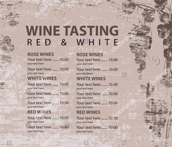 Wine Tasting Menu Template Fresh 19 Wine Menu Template Free Premium Psd Ai Illustrator
