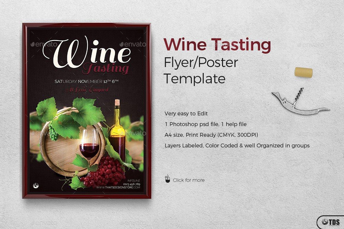 Wine Tasting Menu Template Fresh Wine Tasting Flyer Template by Lou606