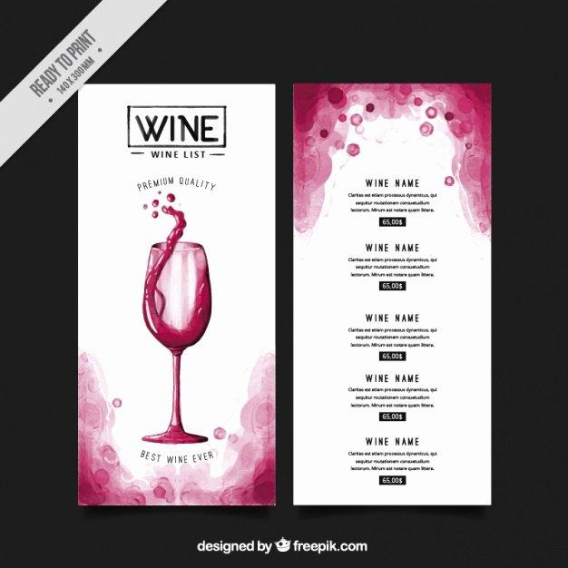 Wine Tasting Menu Template Inspirational Wine List Vectors S and Psd Files