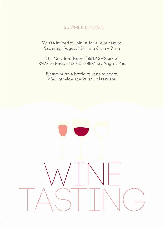 Wine Tasting Menu Template Luxury Wine Party Invitations Templates