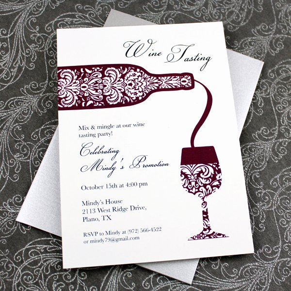 Wine Tasting Menu Template Luxury Wine Tasting Invitation Template – Download & Print