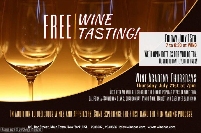 Wine Tasting Menu Template Luxury Wine Tasting Poster Template