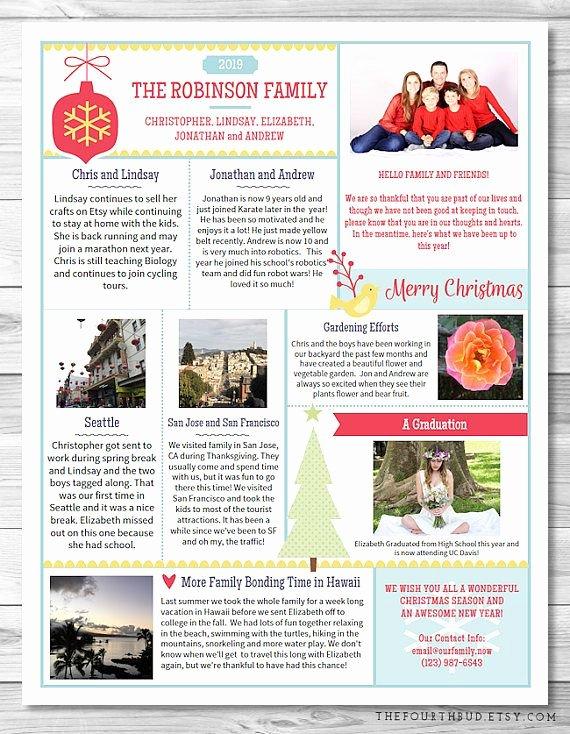 Winter Newsletter Template Free Beautiful Best 25 Christmas Newsletter Ideas On Pinterest