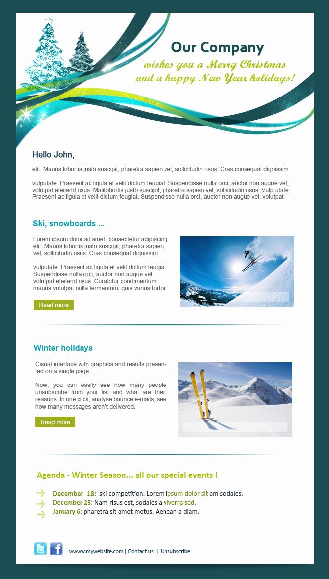 Winter Newsletter Template Free Beautiful Newsletter Acymailing Newsletter tool