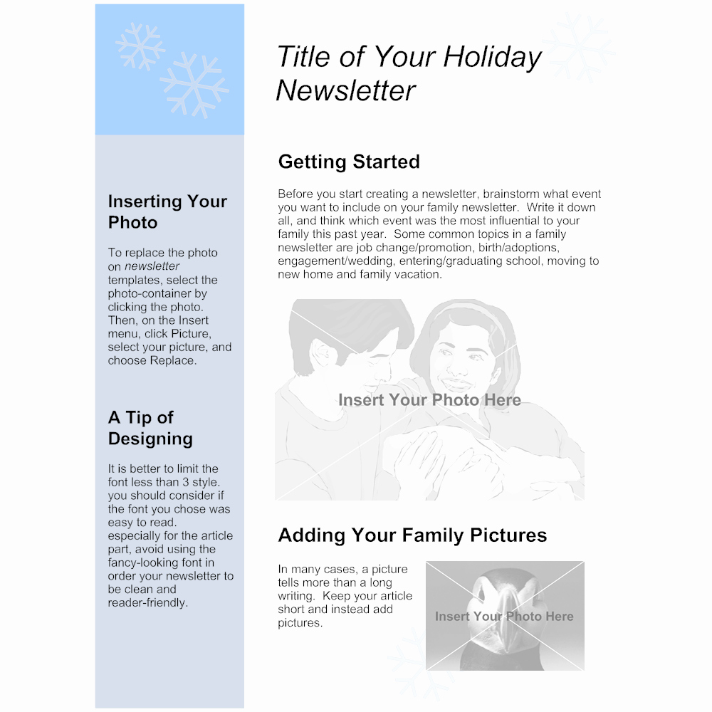 Winter Newsletter Template Free Best Of Family Holiday Newsletter Template